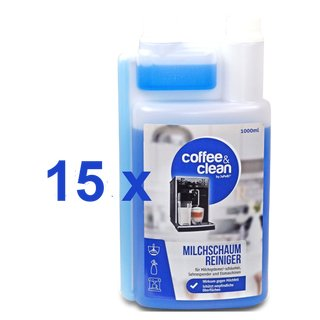 15 x 1000ml Milk Frother Cleaner Coffee&Clean by japebi